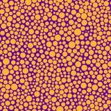 Seamless pattern with orange circles Stock Image