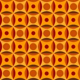 Seamless pattern in orange colors Stock Image