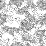 Seamless pattern with orange fruits royalty free stock image