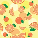 Seamless pattern with orange Stock Images
