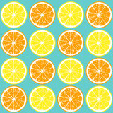 Seamless pattern of orange and lemon slices Royalty Free Stock Image