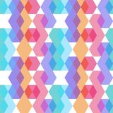 Seamless pattern. orange lilac pink purple blue print, Geo ethnic hipster backdrop modern trendy Geometric abstract background fo. R site, blog, fabric. Vector royalty free illustration