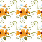 Seamless pattern of orange poppies Royalty Free Stock Photography