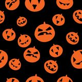 Seamless pattern with orange pumpkins Stock Image
