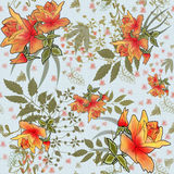 Seamless pattern with orange roses Stock Image
