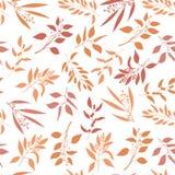 Seamless pattern with orange twigs silhouette. Stock Photo