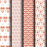 Seamless pattern Orange and white stripes Royalty Free Stock Photography