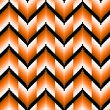 Seamless pattern with orange zigzag elements Stock Photos