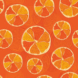 Seamless pattern with oranges Stock Photos