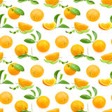 Seamless pattern of oranges Stock Photo