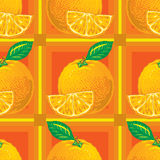 Seamless pattern of oranges Stock Photos
