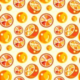 Seamless pattern of oranges royalty free stock photography