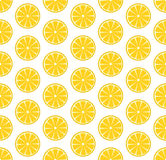 Seamless pattern with oranges. Vector seamless pattern with sliced oranges. Vector illustration. Design element for  for cafe or restaurant or web and print Stock Photo