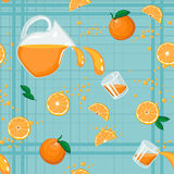 Seamless pattern with oranges Royalty Free Stock Images