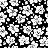 Seamless pattern with orchid flowers. Royalty Free Stock Photography
