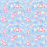 Seamless pattern with orchids flowers and leaves Stock Image