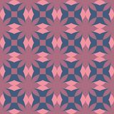 Seamless pattern with ordered arrangement of abstract geometric shapes. The illustration is made in cool colors in retro style royalty free illustration