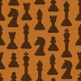 Seamless pattern with ordered chessmen in flat style royalty free illustration