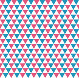 Seamless pattern of ordered equilateral  blue, red and white tri Stock Images