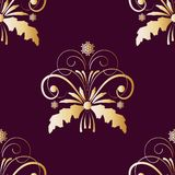 Seamless pattern ore background  Gold ornament Merry Christmas and Happy New Yea