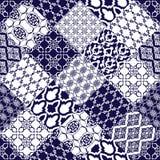 Seamless pattern with oriental motif. Stock Photos