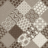 Seamless pattern with oriental motif. Royalty Free Stock Image