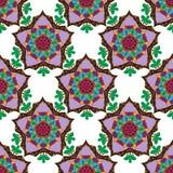 Seamless pattern with oriental motifs vector illustration