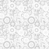Seamless pattern with oriental ornament Royalty Free Stock Photos