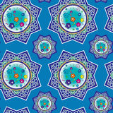 Seamless pattern with oriental ornaments Royalty Free Stock Photography