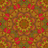 Seamless pattern in oriental style. Bright background of the circular patterns. Vector illustration stock illustration