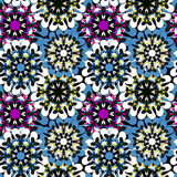 Seamless pattern in oriental style colorful ornamental background with mandala elements Islam Arabic Asian motifs Stock Photography