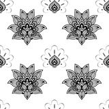 Seamless Pattern in oriental style Stock Photography