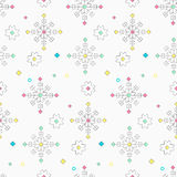 Seamless pattern with the oriental traditional baltic signs in l Stock Image