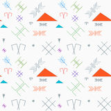 Seamless pattern with the oriental traditional baltic signs in l Stock Images