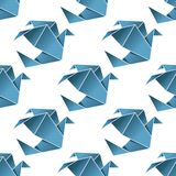 Seamless pattern of origami birds Royalty Free Stock Photos