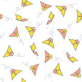 Seamless Pattern with Origami Butterfly Royalty Free Stock Photos
