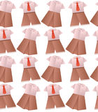 Seamless pattern with origami children's school uniforms Stock Photography