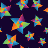 Seamless pattern origami stars Stock Images