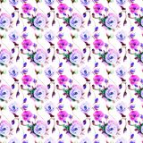 Seamless pattern with Original flowers Royalty Free Stock Photos
