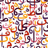 Seamless pattern ornament Arabic calligraphy style Stock Image