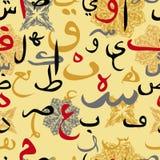 Seamless pattern ornament Arabic calligraphy style. Seamless pattern ornament Arabic calligraphy of text Eid Mubarak concept for muslim community festival Eid Al Royalty Free Stock Images