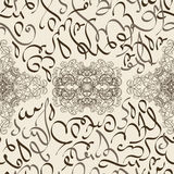 Seamless pattern ornament Arabic calligraphy of text Eid Mubarak concept for muslim community festival Royalty Free Stock Photo
