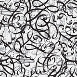 Seamless pattern ornament Arabic calligraphy of text Eid Mubarak concept for muslim community festival Stock Photo