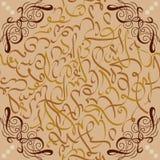 Seamless pattern ornament Arabic calligraphy of text Eid Mubarak concept for muslim community festival Stock Photos