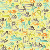 Seamless pattern ornament Arabic calligraphy of text Eid Mubarak concept for muslim community festival Stock Images