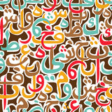 Seamless pattern ornament Arabic calligraphy of text Eid Mubarak concept for muslim community festival Royalty Free Stock Image