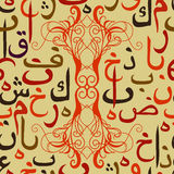 Seamless pattern ornament Arabic calligraphy of text Eid Mubarak concept for muslim community festival Eid Al Fitr(Eid Mubarak) Stock Photography