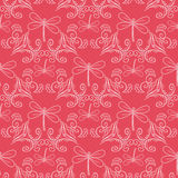 Seamless pattern with ornament and dragonflies Stock Images