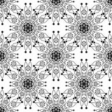 Seamless pattern ornament with stylized geometric elements  Stock Image