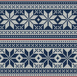 Seamless pattern ornament on the wool knitted texture. EPS available Royalty Free Stock Photo